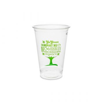 Vegware 9oz PLA hidegitalos pohár, 76-sorozat - Green Tree - 256 ml
